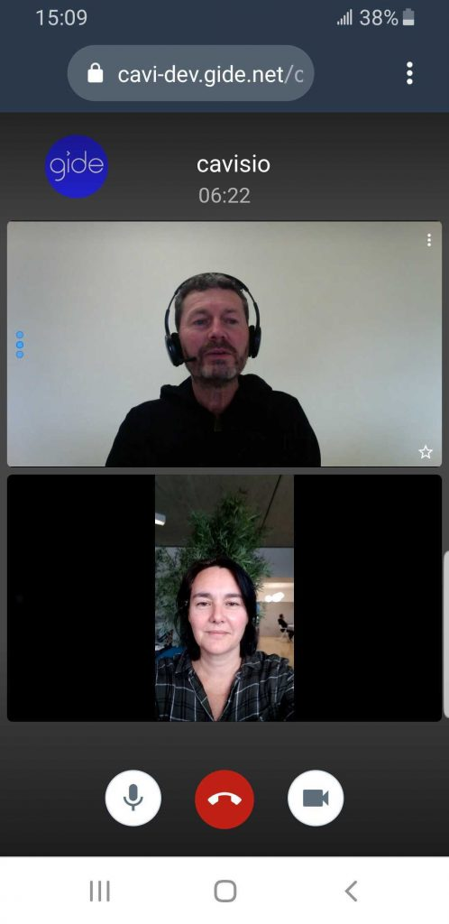 survey interview mobile videoconference