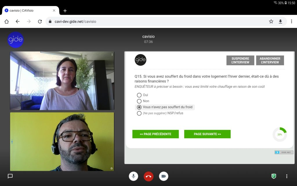 cavisio survey questionnaire videoconference